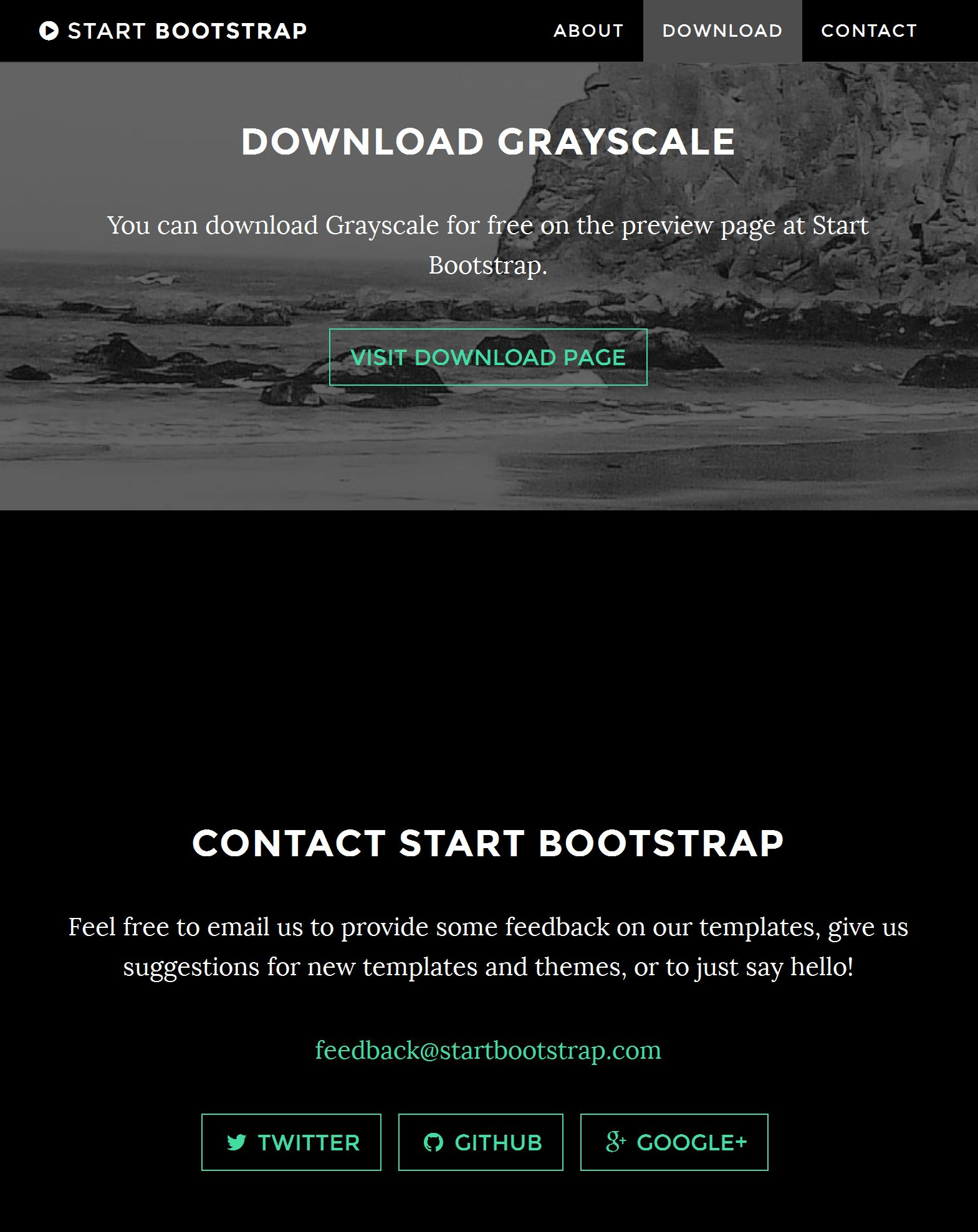 Bootstrap Profile Page Template