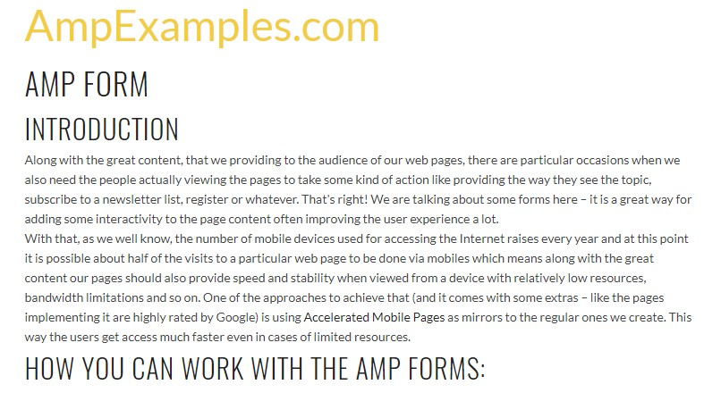 Why don't we  explore AMP project and AMP-form  component?