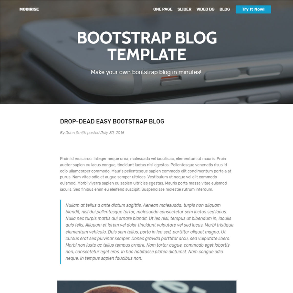 CSS3 Bootstrap Blog Themes