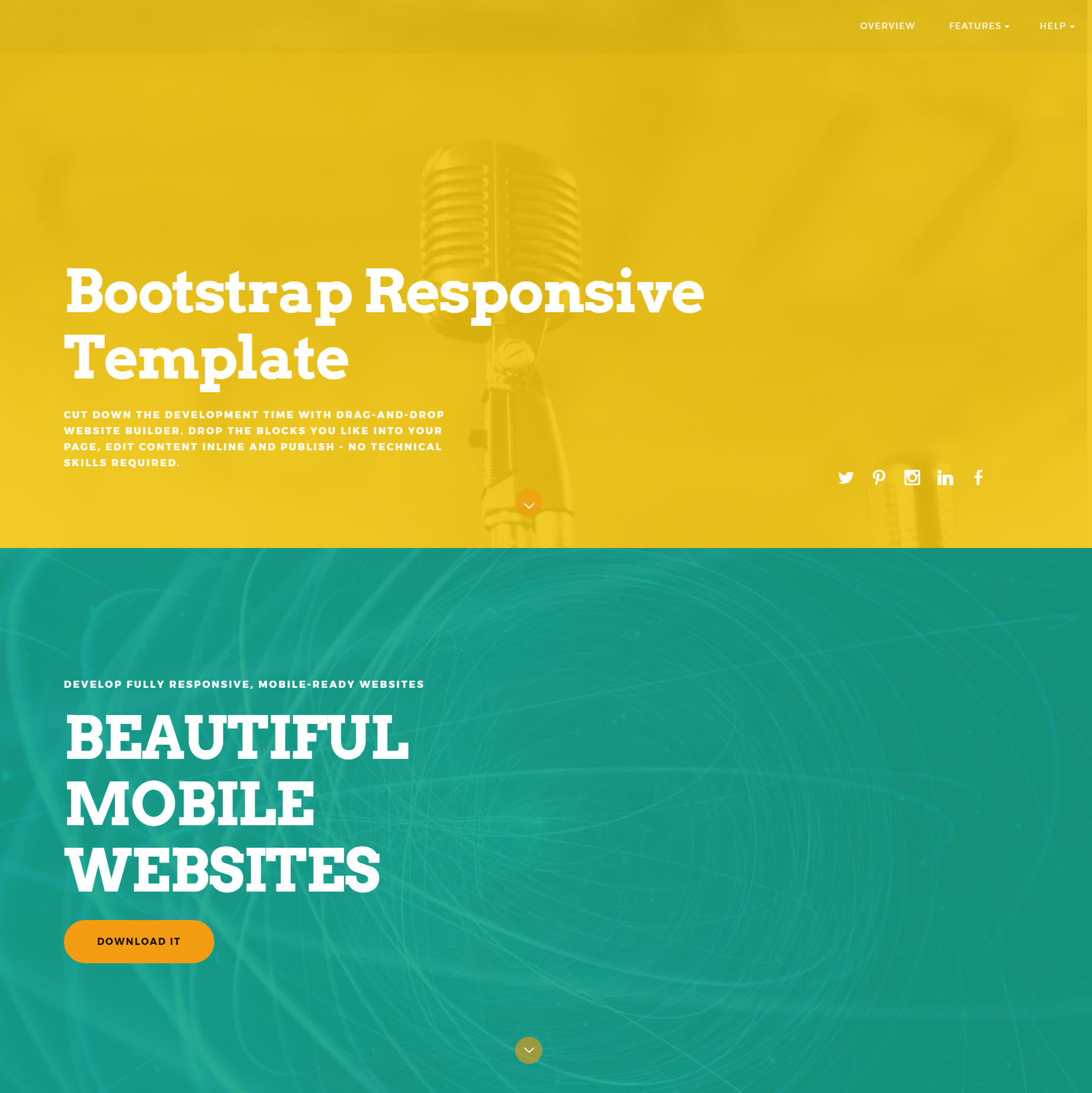 HTML5 Bootstrap Responsive Themes