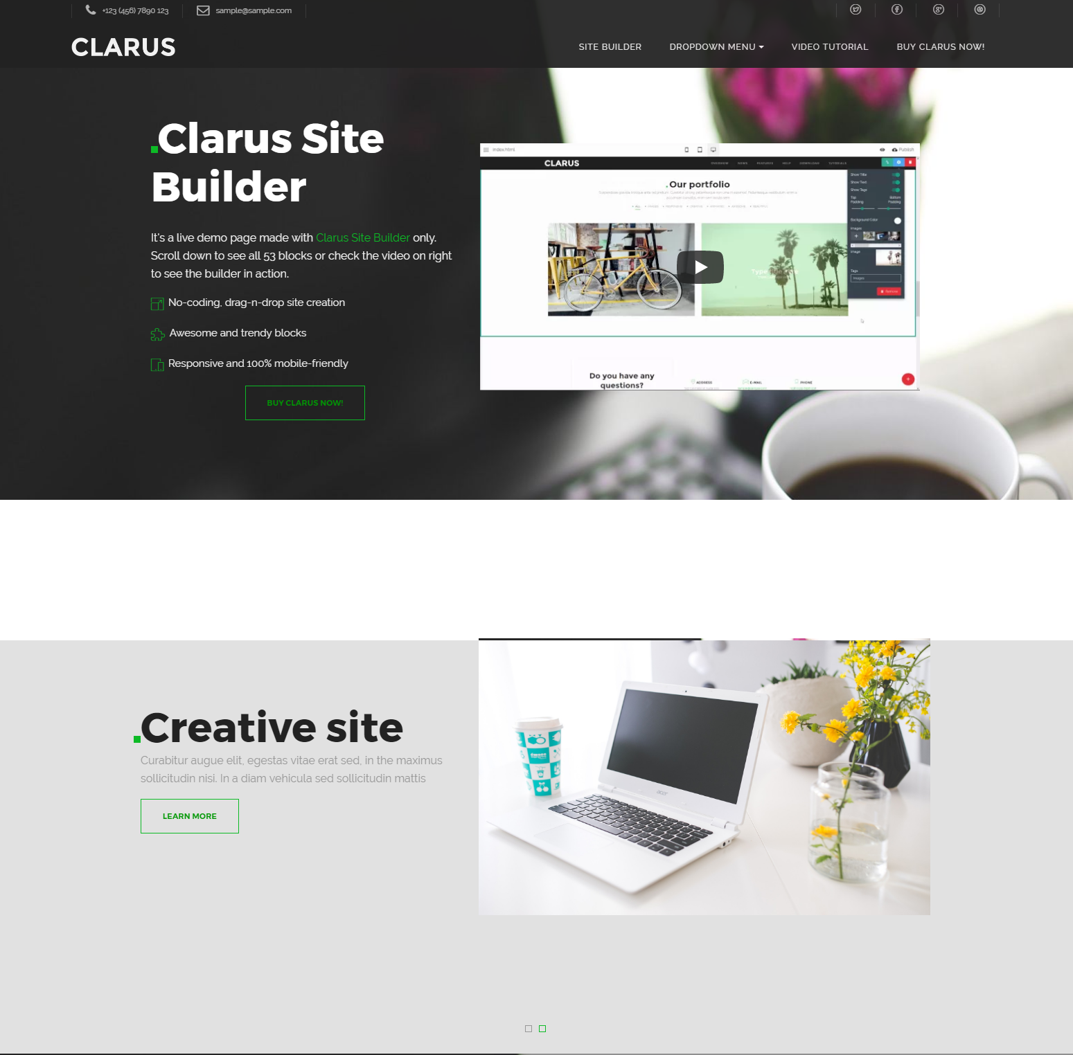 Free Download Bootstrap Clarus Themes