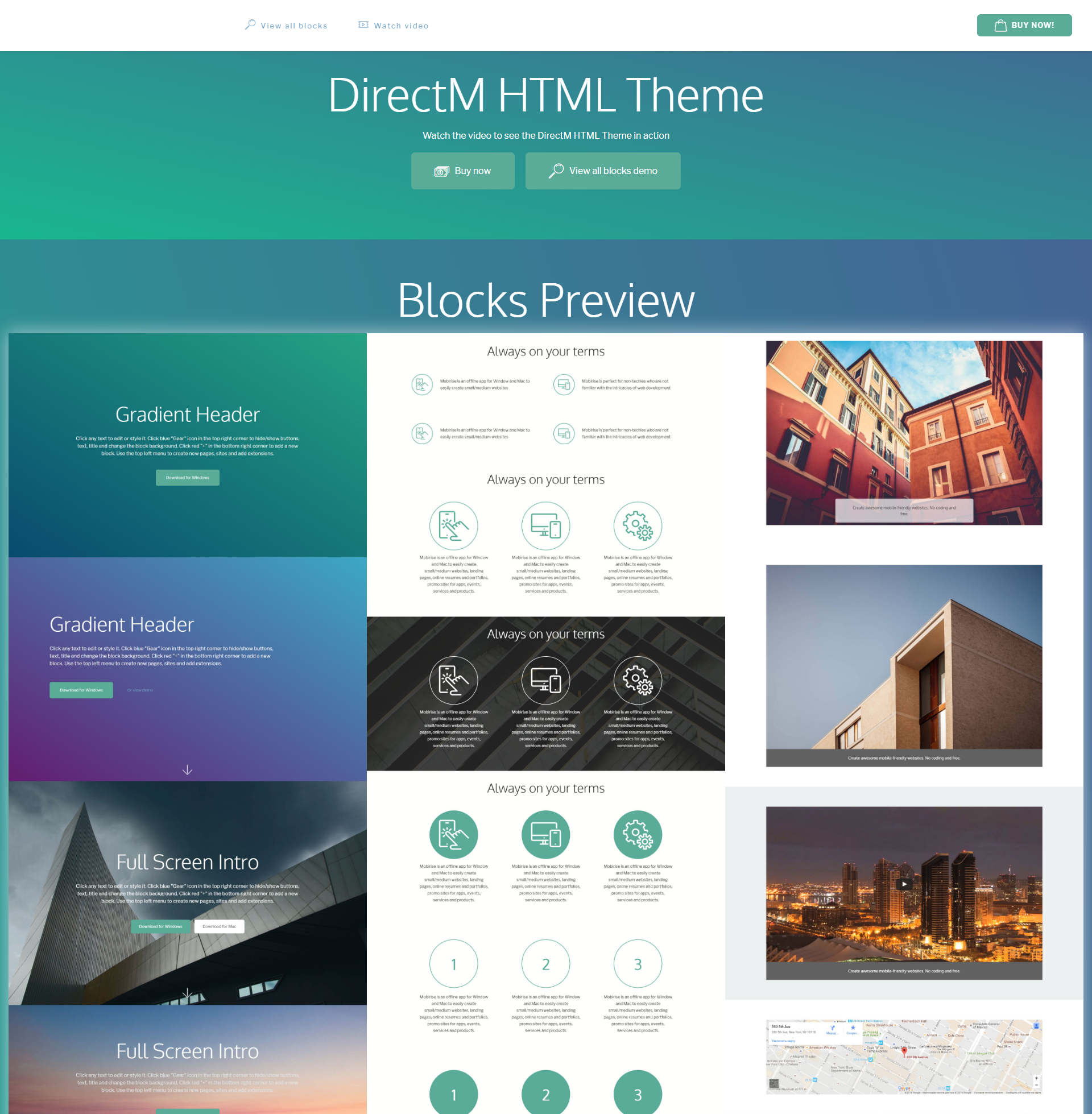 Responsive Bootstrap DirectM Themes
