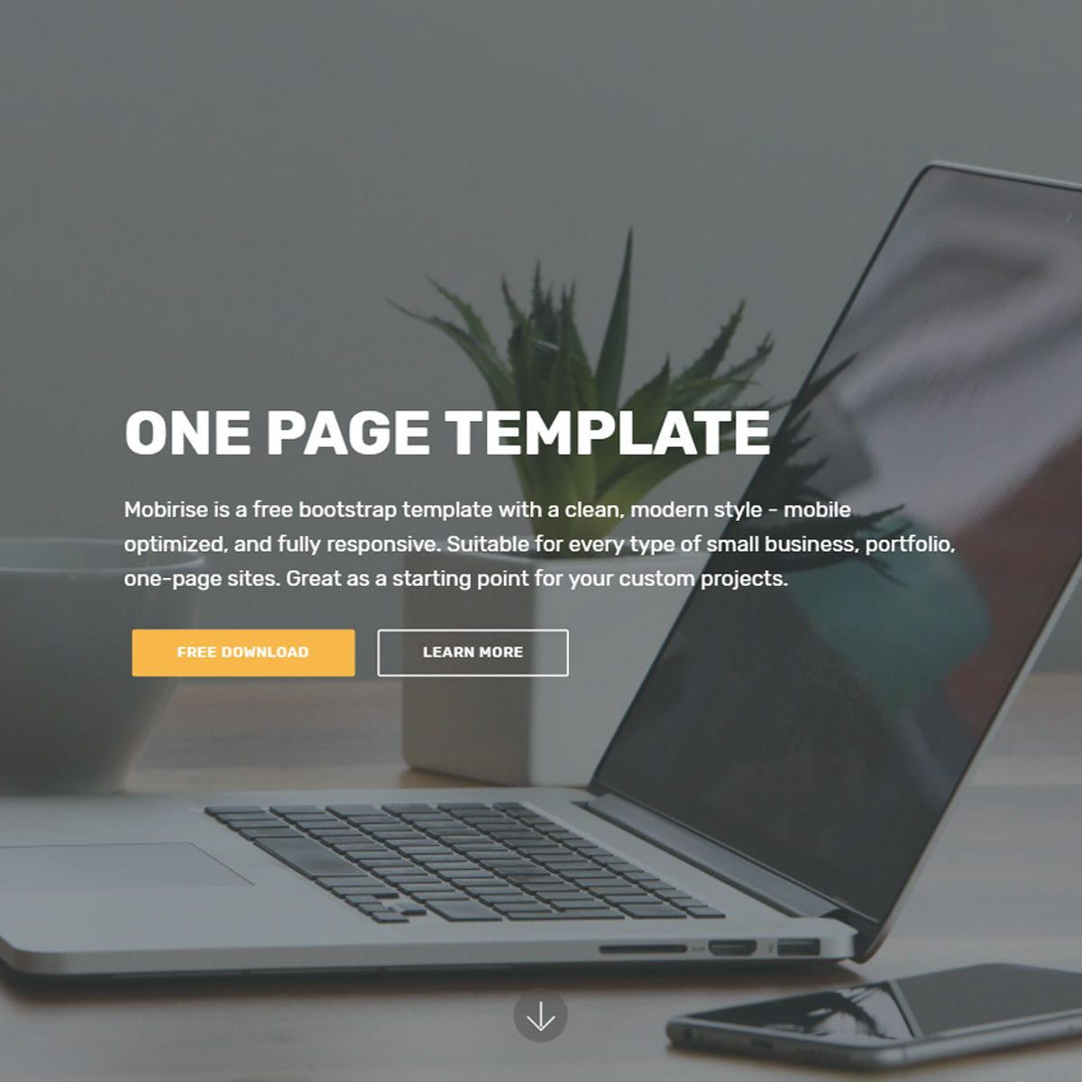 Responsive Bootstrap One Page Templates