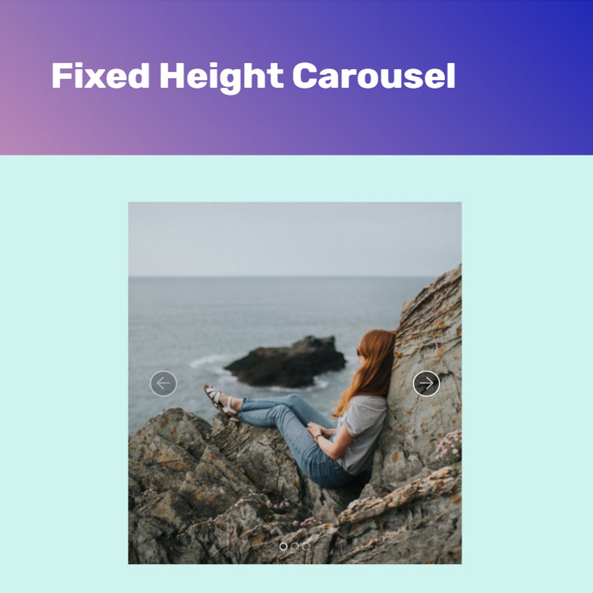 JavaScript Bootstrap Photo Carousel