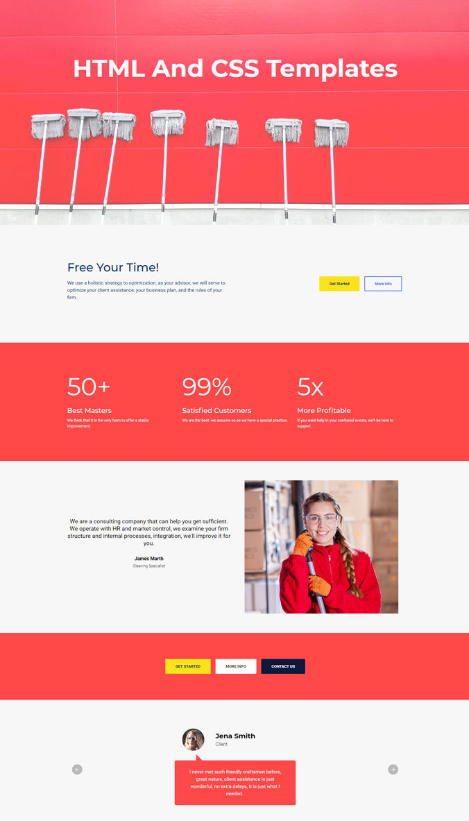 Mobile Bootstrap Template