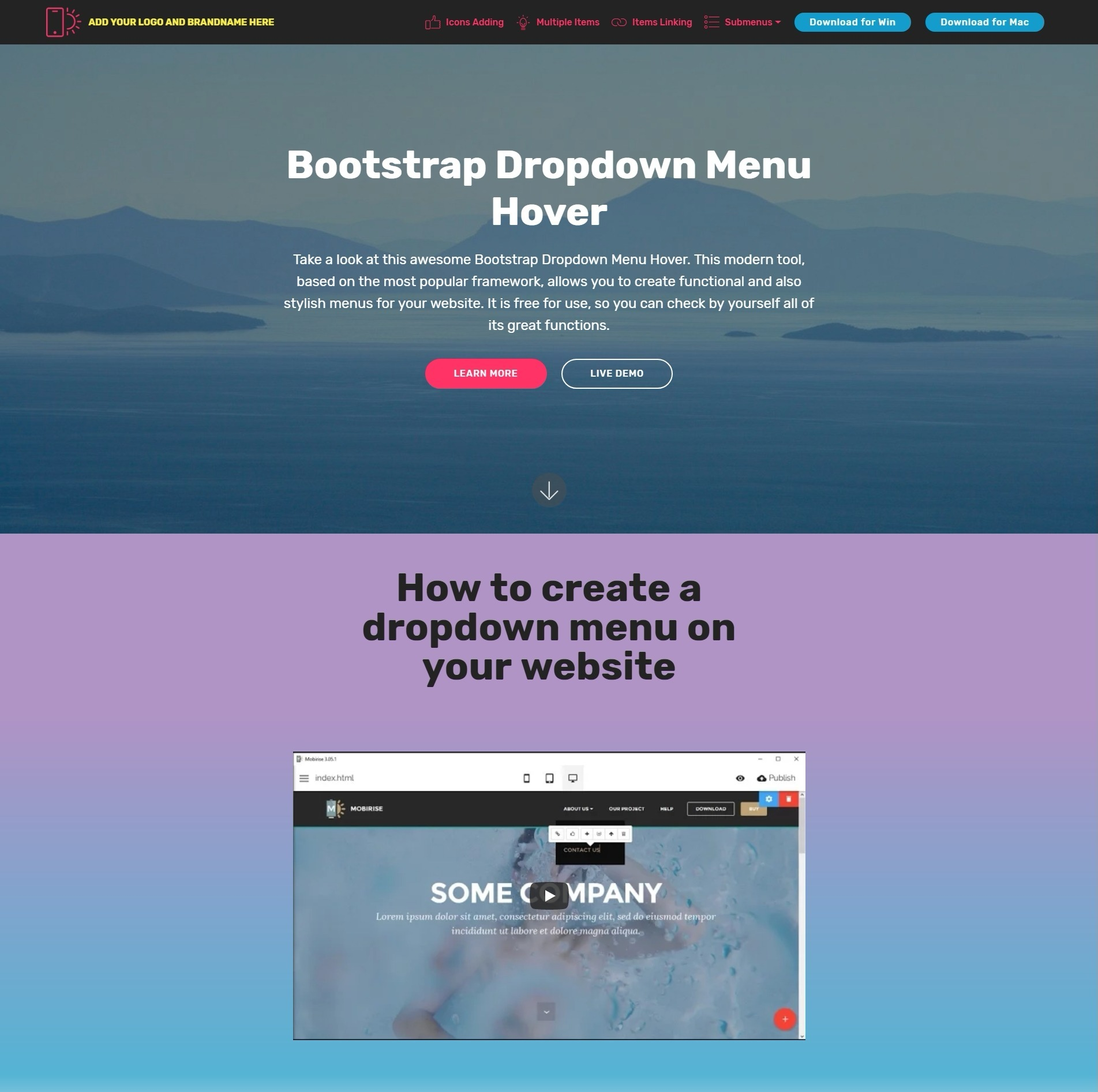 Gorgeous Free Bootstrap Modal Video Backgrounds And